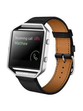 Product Image Mosunx Luxury Leather Watch band Wrist strap For Fitbit Blaze Smart Watch