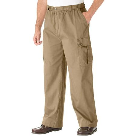 KingSize Men's Big & Tall Knockarounds Full-Elastic Waist Cargo Pants