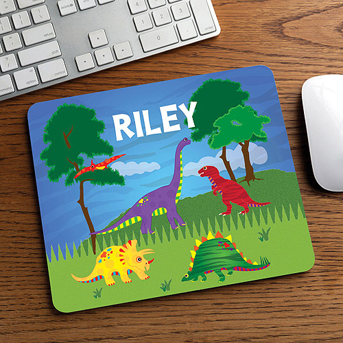Personalized Dino Mouse Pad