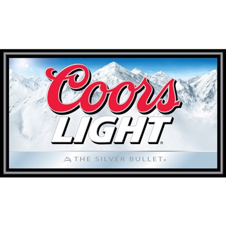 Coors light wood frame bar wall mirror walmart coors light wood frame bar wall mirror aloadofball Image collections