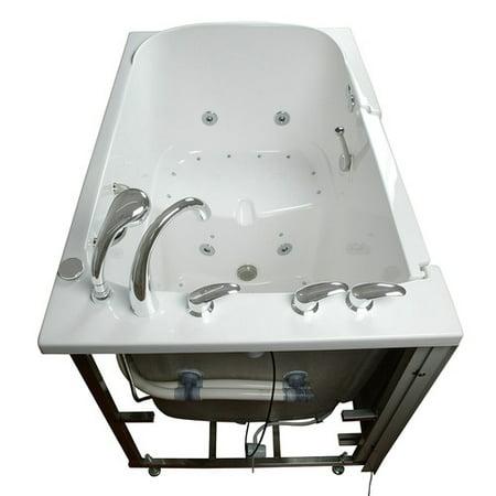 Ella Walk In Baths Bariatric Seat Air and Hydro Massage Whirlpool Walk-In Tub 6 Whirlpool Bath