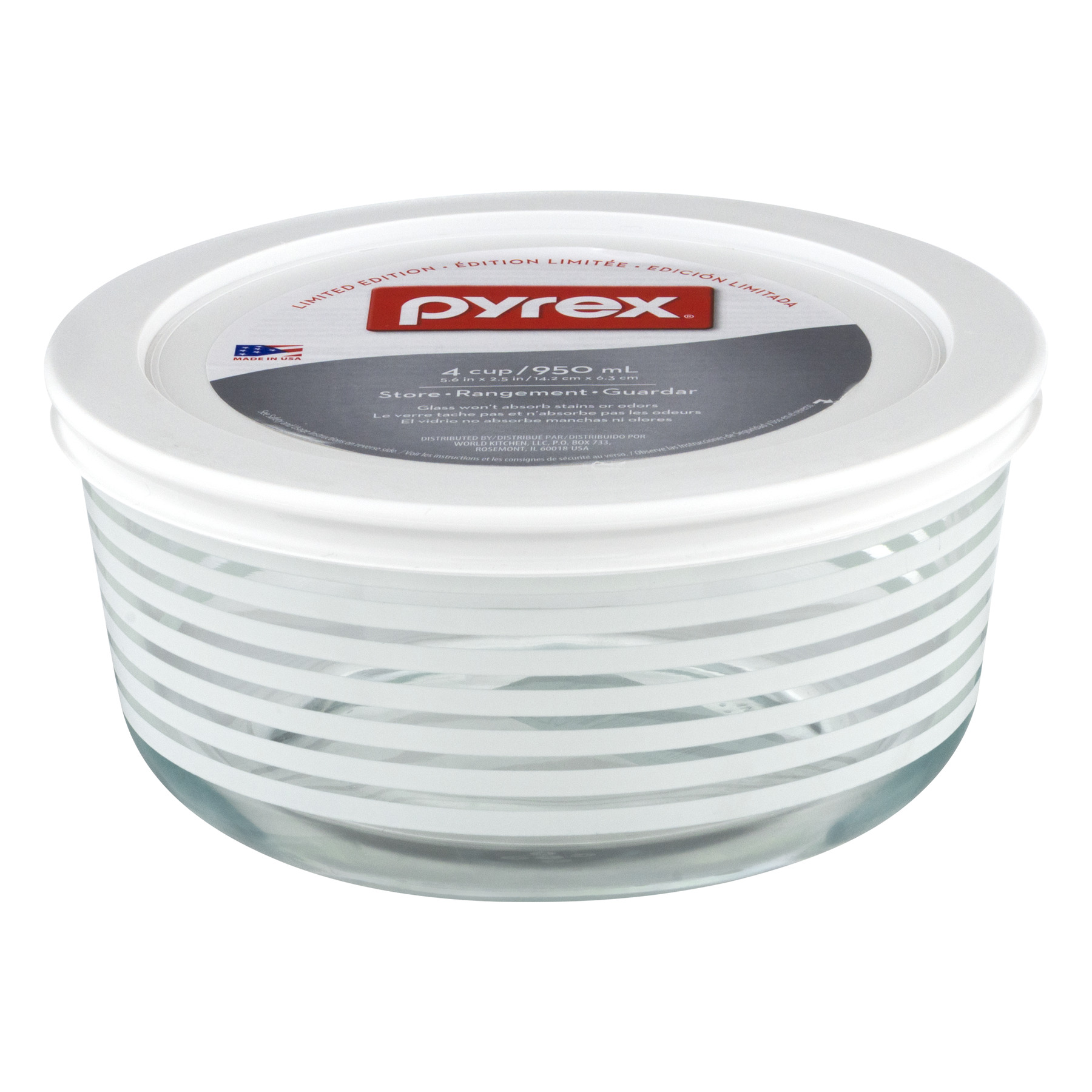 Pyrex 4 Cup Storage Dish With Lid, 1.0 CT