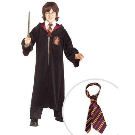 Harry Potter Premium Gryffindor Robe Child Costume and Harry Potter Tie - Gryffindor Robe And Tie