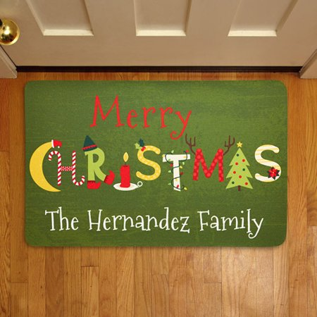 Personalized Christmas Letters Doormat ()