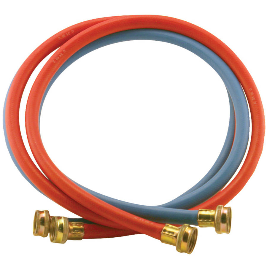Certified Appliance Wm48rbr2pk Red/Blue EDPM Rubber Washing Machine Hoses, 2pk (4')