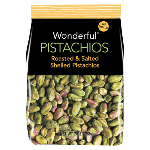 Wonderful Pistachios Roasted & Salted Shelled Pistachios, 7 oz