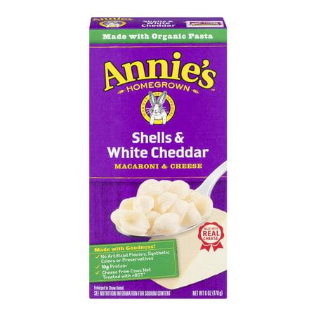 Annies  Shells   White Cheddar Macaroni   Cheese Natural 6 Oz Box
