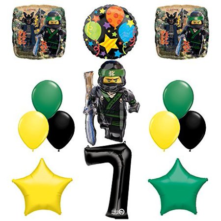 The Ultimate Lego Ninjago 7th Birthday Party Supplies and Balloon Decorations