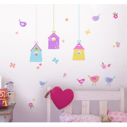 Fun4Walls Birds Houses Wall Stickers