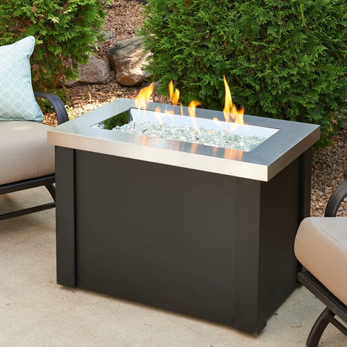 The Outdoor GreatRoom Company Providence Metal Gas Firepit Table by The Outdoor GreatRoom Company