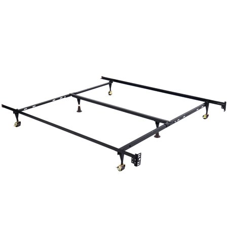 Costway Metal Bed Frame Adjustable Queen Full Twin Size w/ Center ...