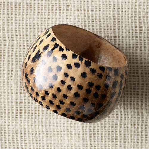 Katchy Kollections for Full Circle Exchange Handpainted Animal Print Coconut Bangle Bracelet