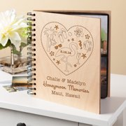 Personalized Honeymoon Memories Wood Photo Album