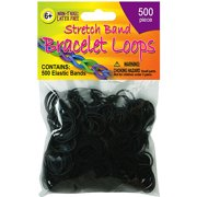 Stretch Band Bracelet Loops, 500/Pkg