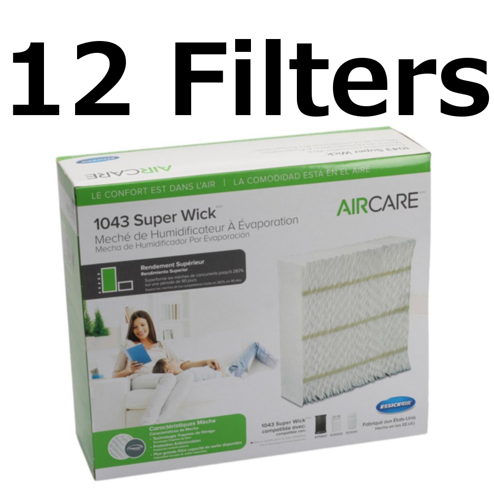 Aircare 1043 Replacement Space Saver Wick (12 Pack)