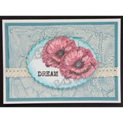"""IndigoBlu Cling Mounted Stamp 7""""X5""""-Ickle Poppies"""