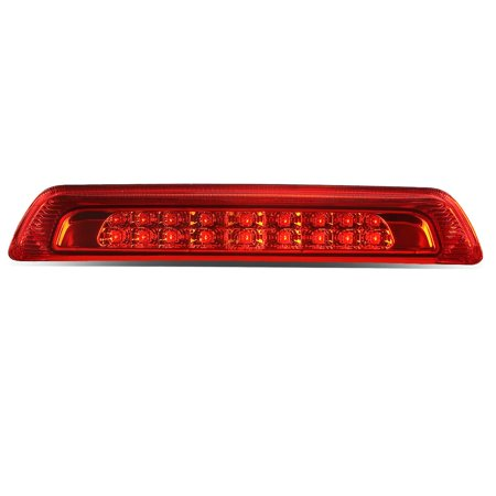 Crystal Clear 3rd Brake Light (for 07-18 toyota tundra dual row led 3rd third brake light rear stop/cargo lamp red housing 08 09 10 11 12 13 14 15 16 17 )