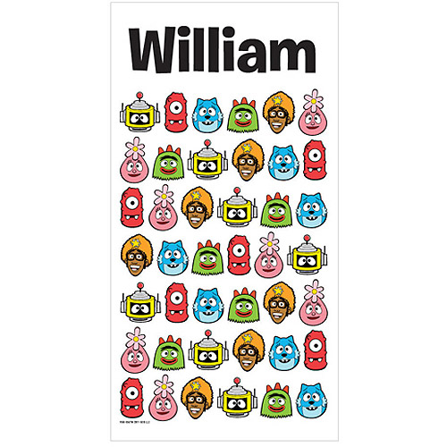 Personalized Yo Gabba Gabba! Heads Beach Towel