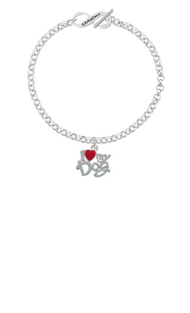 8 Silvertone I Heart Swimming Grandma Infinity Toggle Chain Bracelet