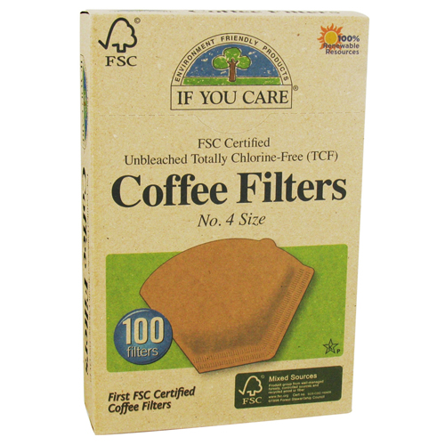 If You Care Unbleached Totally Chlorine-Free, Coffee Filters Cone Style - 100 Ea