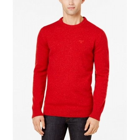 - Barbour NEW Rich Red Mens Size Medium M Tisbury Crewneck Sweater