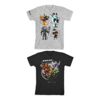 Roblox Boys Panel & Circle Warriors Graphic T-Shirts 2-Pack, Sizes 4-18