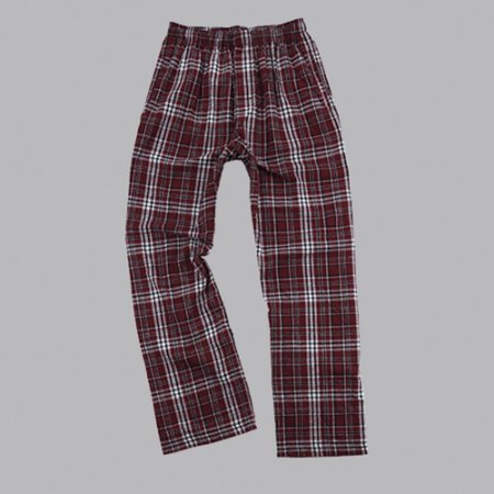 Boxercraft F24MAR Maroon and Black Classic Flannel Pant (Black 42 Flannel)
