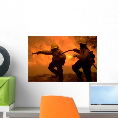 Forestry Firefighters Wall Mural by Wallmonkeys Peel and Stick Graphic (18 in W x 12 in H) WM29459