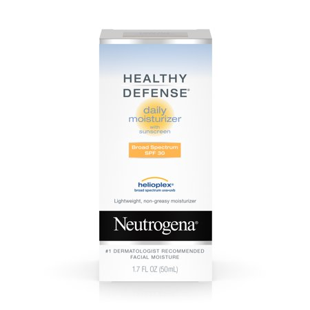 Neutrogena Healthy Defense Daily Moisturizer For Sensitive Skin With Broad Spectrum Spf 30 Sunscreen  1 7 Fl  Oz