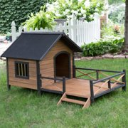 Boomer ; George Lodge Dog House with Porch - Large