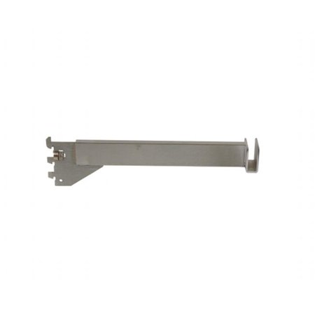 """Econoco - CR12-SC - 12"""" 16 Gauge Satin Chrome Hangrail Bracket to Hold Rectangular Tubing For President Line Slotted Standards - Sold in Pack of 25"""