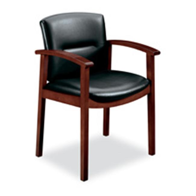 HON Company HON5003JEE11 Guest Chair- Hardwood- 23-. 50inchx22inchx33-. 63inch- H. Cherry-BK Vinyl