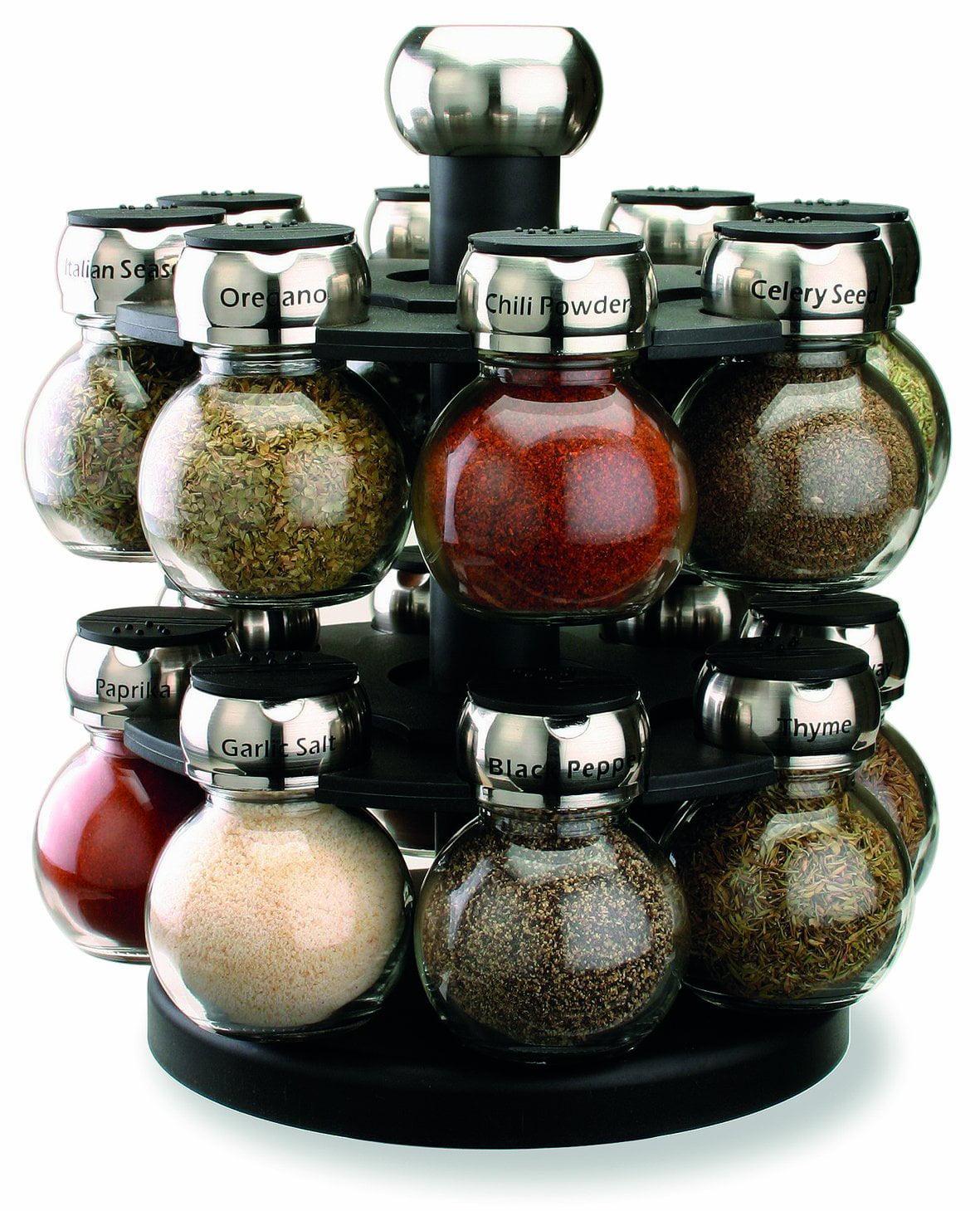 Wonderful Olde Thompson 16 Jar Labeled Orbit Spice Rack Jars U0026 Rack   Walmart.com
