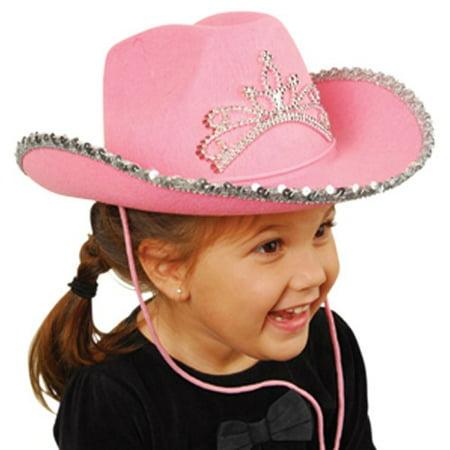 0226360bf7728 US TOY H377 Pink Cowboy Hat with Tiara - Walmart.com