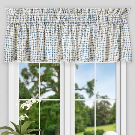 Ellis Curtain Breckan Ikat Check Tailored 80'' Curtain Valance (Tailored Valance)