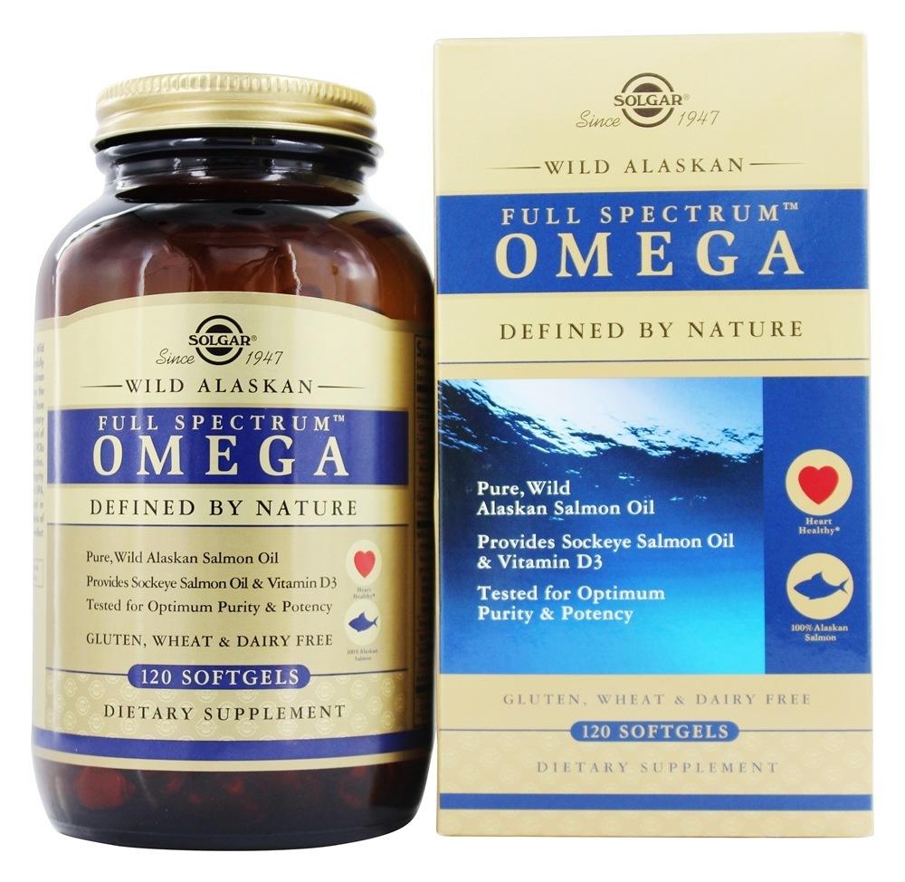 Solgar - Full Spectrum Omega Wild Alaskan Salmon Oil - 120 Softgels