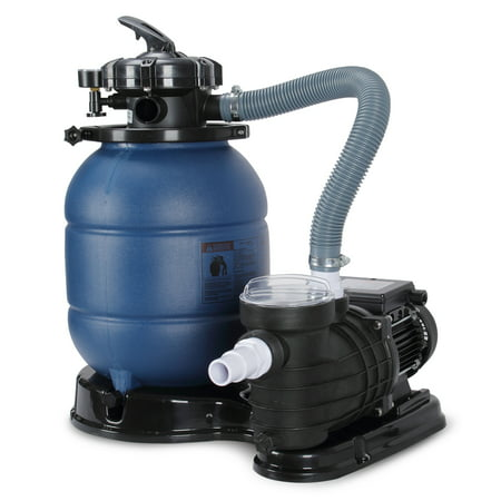 "Image of ""ARKSEN 2820GPH 13"""" Sand Filter for Above Ground Swimming Pool Pump 10000GAL 4-Way Valve with 1/2 HP Pool Pump"""