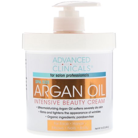 Advanced Clinicals  Argan Oil  Intensive Beauty Cream  16 oz  454