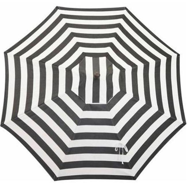 Bellini Home and Gardens UM90RZSB2024 Resort 9 ft. Market Umbrella with Windvent, Bronze Frame Finish - Cabana Classic Sunbrella Fabric - image 1 of 1