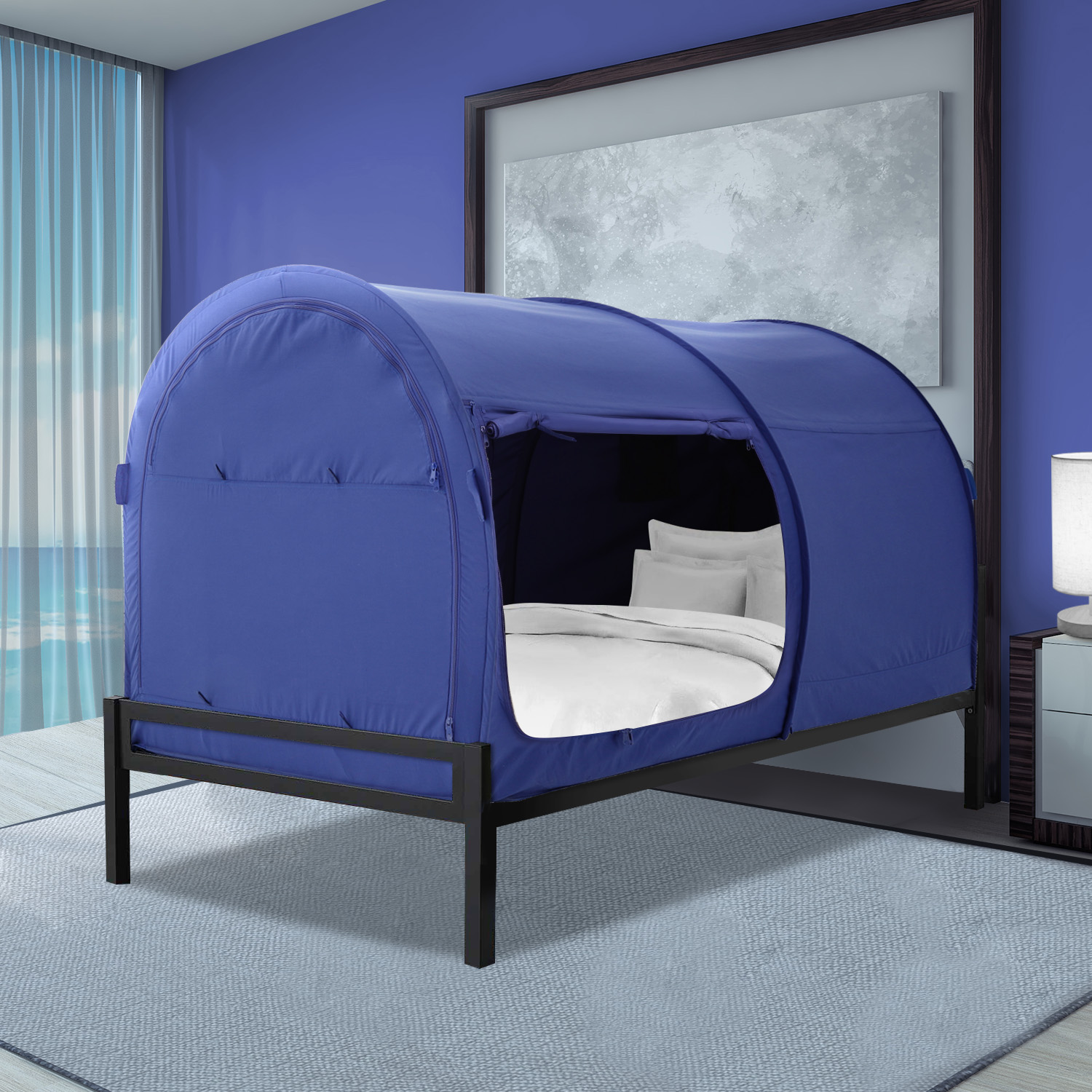 Bed Tent Twin Size For Girls Boys Navy By Alvantor