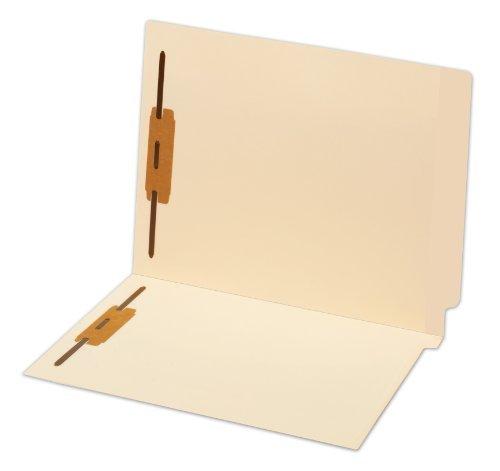 """Globe-weis End Tab Manila Fastener Folder - Letter - 8.50"""" X 11"""" - 0.75"""" Expansion - 2 Fastener - 2"""" Folder Fastener Capacity - 14 Pt. - Manila - Manila - 50 / Box (GLW44215)"""