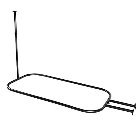 Black Exterior Tub (Utopia Alley Hoop Shower Rod for Clawfoot Tub,)