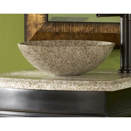 Gold Hill Granite 14 In  Round Vessel Sink