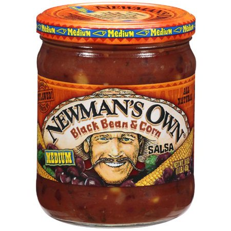 (2 Pack) Newman's Own Black Bean & Corn Medium Salsa, 16 (Best Black Bean Salsa)