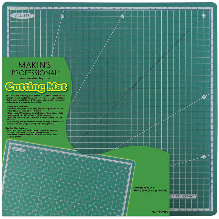 "Makin's Clay Cutting Mat, 13.78"" x 13.78"", Large"
