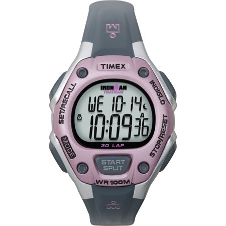 Women's Ironman Classic 30 Mid-Size Watch, Gray Resin Strap (Timex Ironman Pedometer)