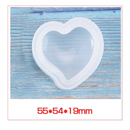 SHOPFIVE Epoxy Clear Heart Star Shape Silicone Resin Liquid Mold Pendant Casting Beads Crystal Molds DIY Jewelry Making Tool Hand