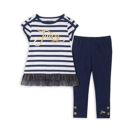 Girl Clothes Online (Little Girl's 2-Piece Striped Legging)