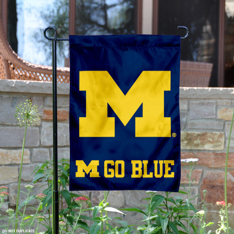 "Michigan Wolverines Go Blue 13"" x 18"" College Garden Flag"