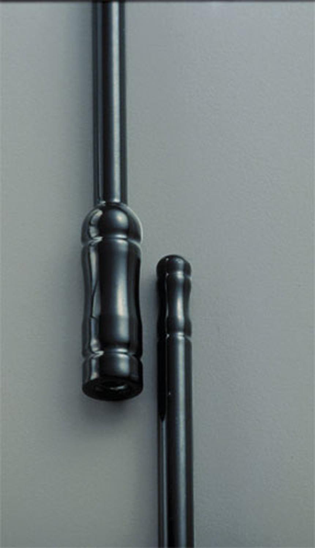 All Sales 6221K Stubbie Universal Antenna Black Powder Coat Front or Rear